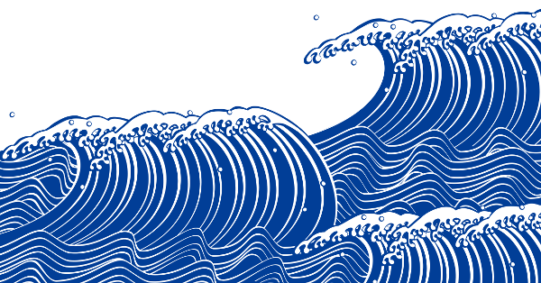 japanese style wave pattern