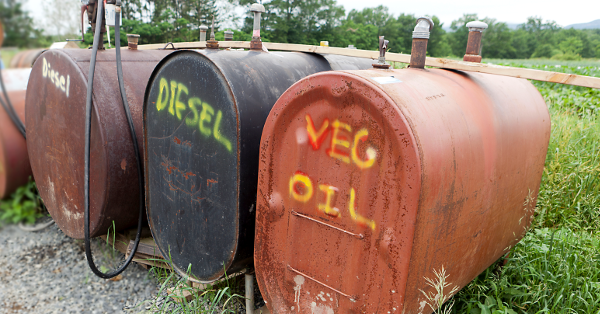 biodiesel tanks on a farm