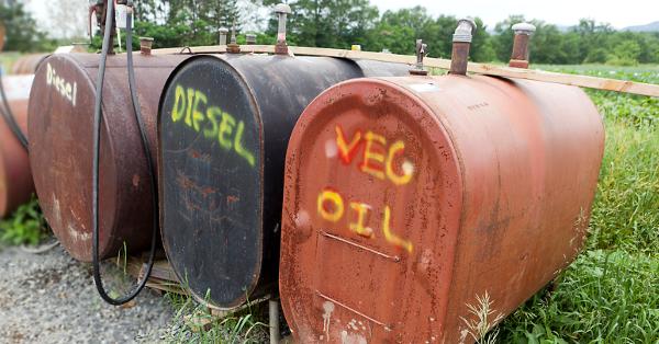 biodiesel tanks on a farm