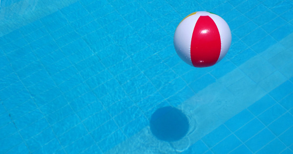 beach ball and shadow image